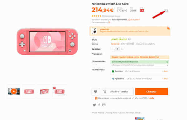 Comprar switch lite barata